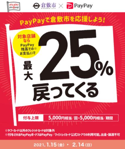 PayPay倉敷の対象店舗