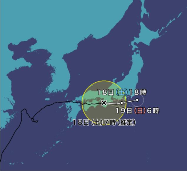 台風14号(チャンスー)2021年の進路予想図31