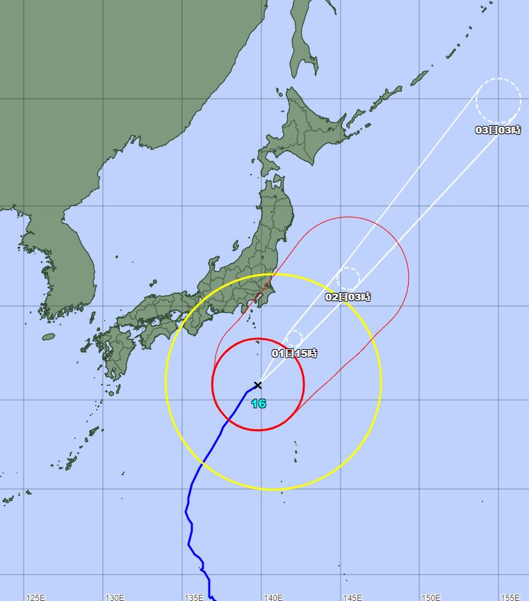 台風16号(ミンドゥル)2021年の進路予想図394