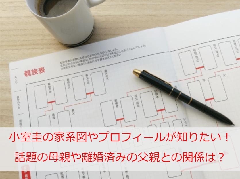 小室圭の家系図やプロフィールが知りたい!話題の母親や離婚済みの父親との関係は?